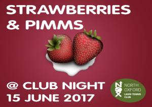June 15th Strawberries and Pimms night