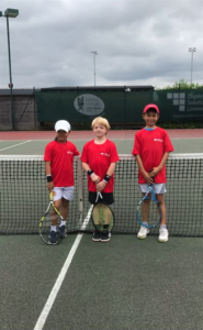 9 and Under players Left to right - Austin, Arthur and Timothy
